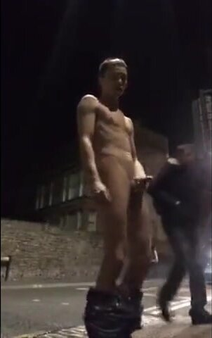Guy Exhibitionist showing it all on busy streets 4