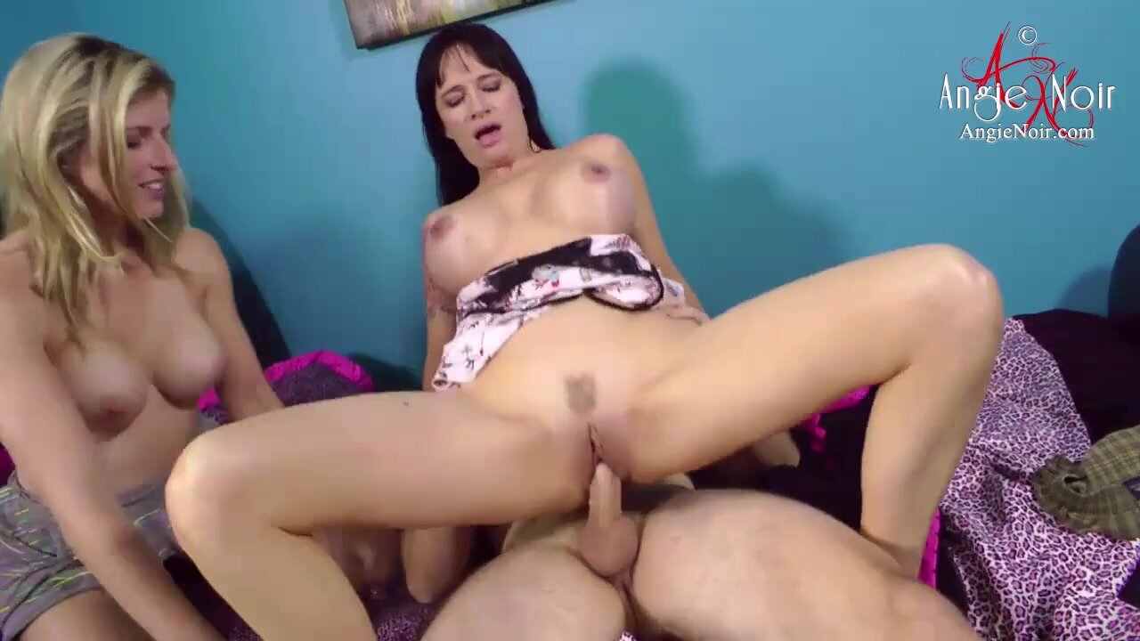 Guy Fucks His Stepsister And Stepmother - Angie Noir, Cory Chase