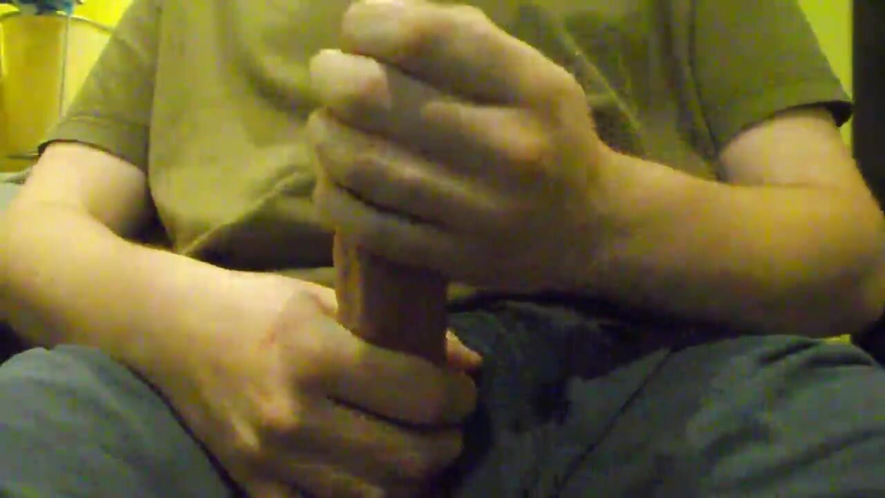 Jerking off with warm oil and a huge orgasm 3