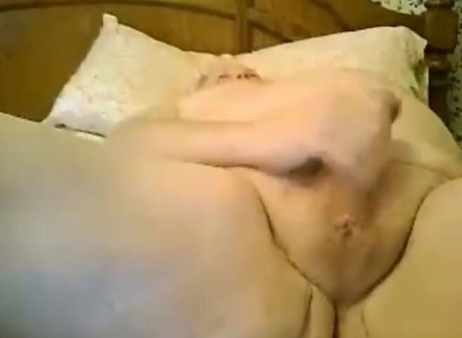 fat grandpa jerking off on the bed 2