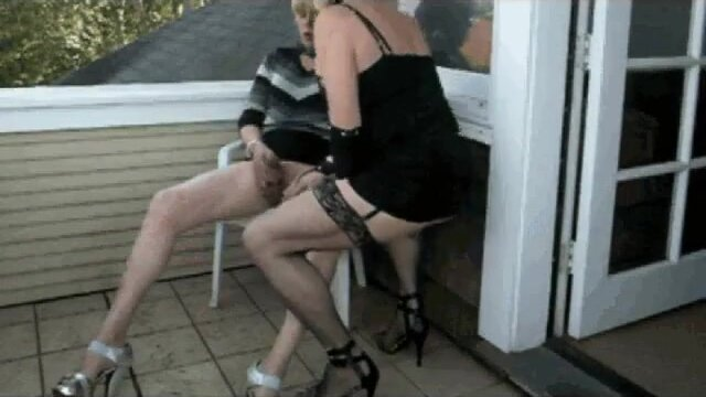 two crossdressers play together 4