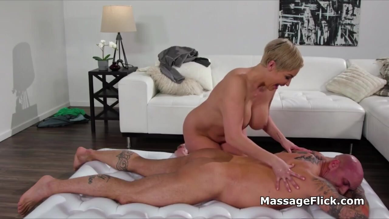 Wife throats while trying new massage gel